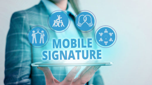 Conceptual hand writing showing Mobile Signature. Business photo showcasing digital signature generated either on a mobile phone.